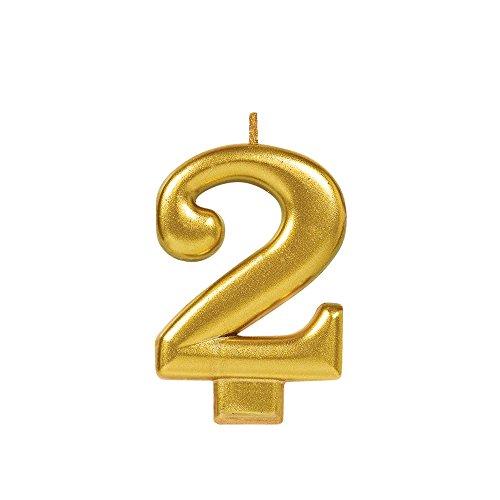 Metallic Gold #2 Birthday Glitter 3.25