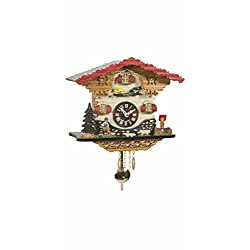 Kuckulino Black Forest Clock Swiss House with quartz movement and cuckoo chime, incl. battery TU 2058 PQ