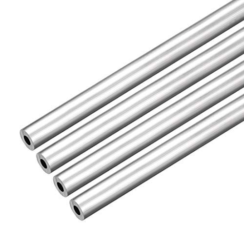 4Pcs 6063 Seamless Straight Round Aluminum Tube Tube 1 feet in Length 0.195 inches ID 0.429 inches Outside Diameter