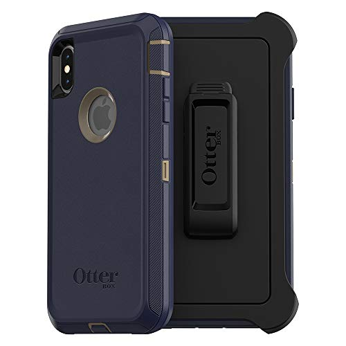OtterBox DEFENDER SERIES SCREENLESS EDITION Case for iPhone Xs Max - Retail Packaging - DARK LAKE (CHINCHILLA/DRESS ()