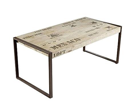 Tavolo Stile Industriale : Massiccio mobili mango legno ferro stampata tavolo da pranzo 76x180