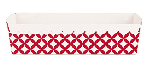 Simply Baked LPST-101C Loaf Pan Scarlet Paper Baking, Pack of 210, Scarlet Diamond by Simply Baked