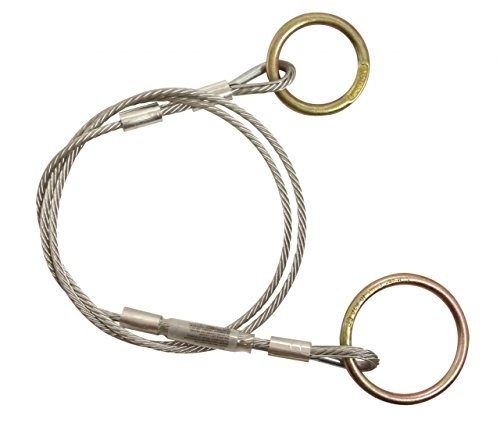 FallTech 743808, 8' Cable Pass-Through Sling Anchor/1/4'' Galvanized Cable, Pack of 4 pcs