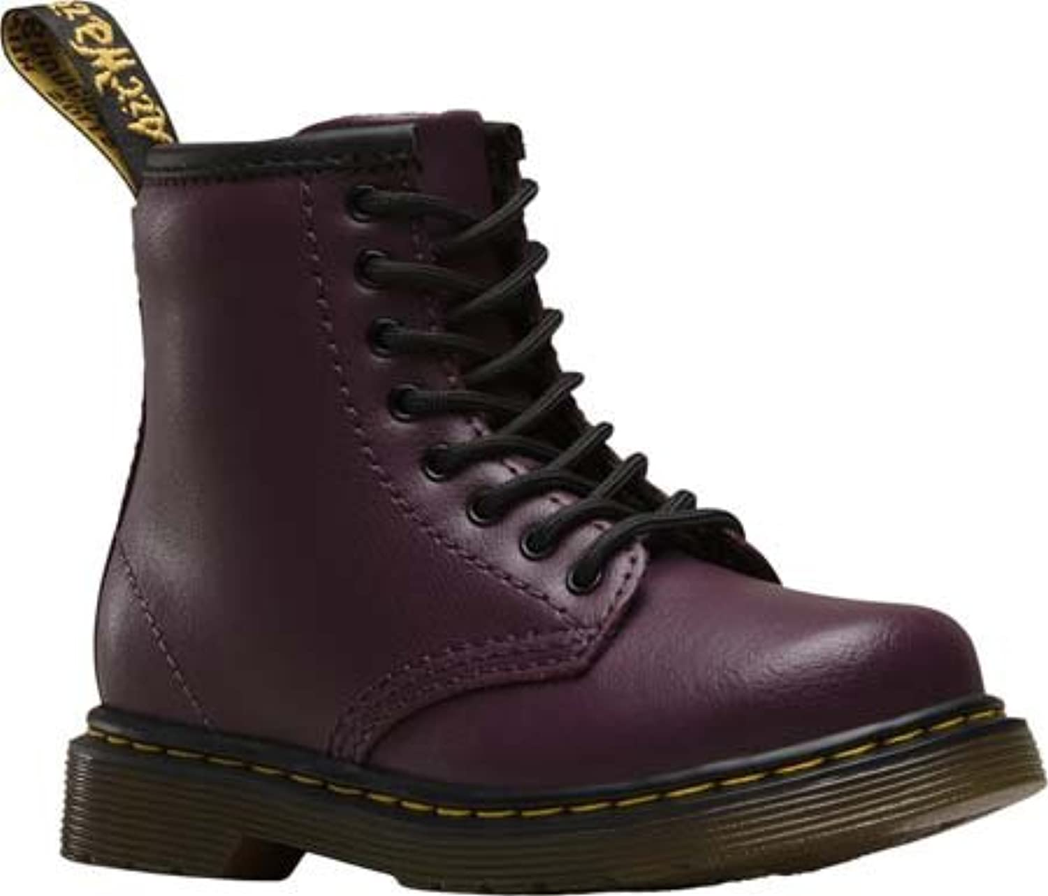Dr.Martens Toddlers Brooklee 1460 8 Eyelet Zip Purple Leather Boots 6 UK
