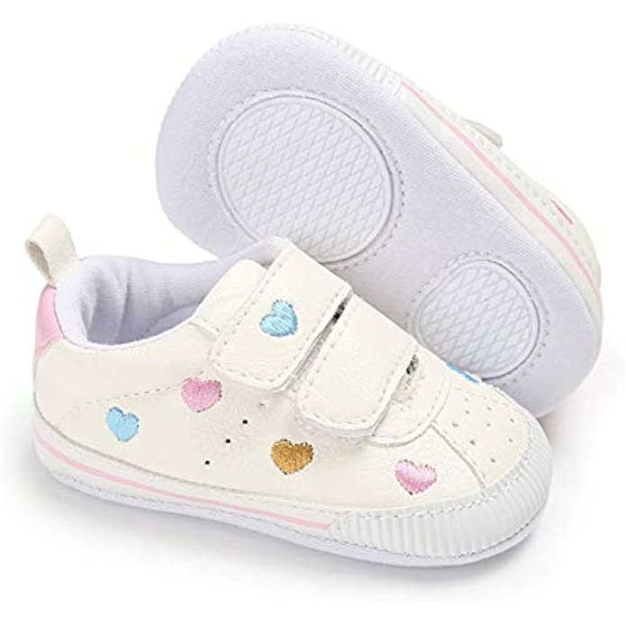 ENERCAKE Baby Boys Girls Shoes Non Slip Rubber Sole Walking Sneakers Infant Toddler First Walkers Tennis Crib Shoes