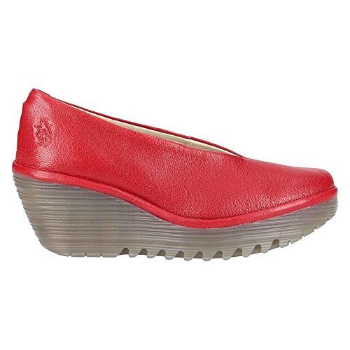 Fly Lipstick Red London Donna Zeppa Yaz Con Scarpe rZn1fWrqR