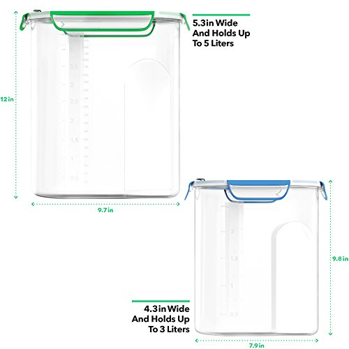Vremi-VRM020307N-Food-Dispensers-3-Liter-And-5-Liter-Clear