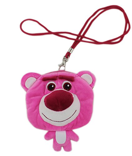 Disney Pixar's Toy Story 3 Lotso Bear Hanging Plush Coin Purse and ID Holder