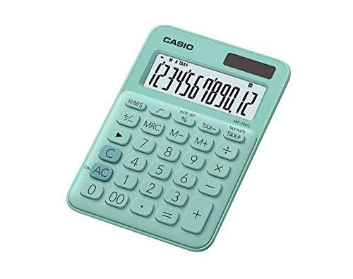 Casio MS-20UC-GN-S-EC Calculadora, Color Verde Agua