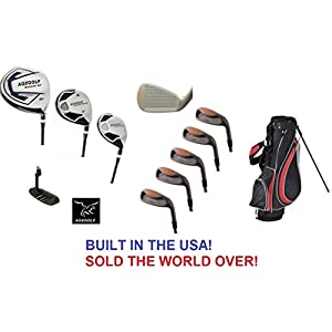 agxgolf-mens-magnum-executive-edition-golf-club-set-w-stand-bag-made-in-usa-right-hand-cadet-regular-or-tall-length-graphite-woods-3-5-7-9-irons-sand-wedge-free-putter