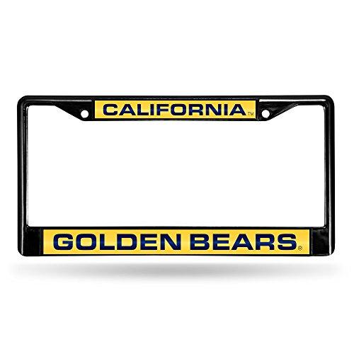 Rico Industries NCAA California Golden Bears Laser Cut Inlaid Standard Chrome License Plate Frame, 6