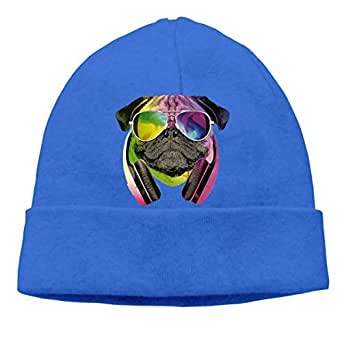 Amazon.com: Adult Ocaps DJ Pug Beanie Cap Winter Warm Knit