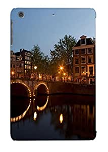 Exultantor Protection Case For Ipad Mini/mini 2 / Case Cover For Christmas Day Gift(cities Architecture Buildings Bridges Reflection Night Lights )