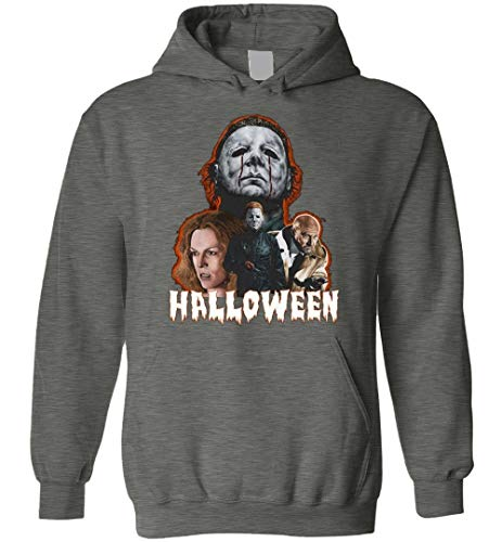 Michael Myers Halloween Horror Movie Dr. Loomis Laurie Adult and Youth Blend Hoodie ()