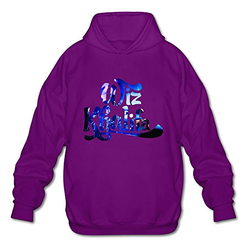 Men's Wiz Khalifa Logo Custom Hoodies Sweatshirt Purple Size M By Xuruw