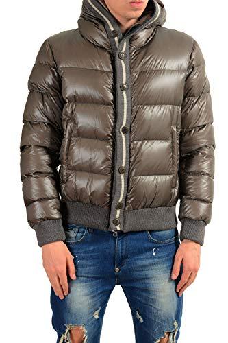 Moncler Men's Cesar Gray Down Hooded Parka Jacket Coat Sz 3 US (Moncler Down Coat)