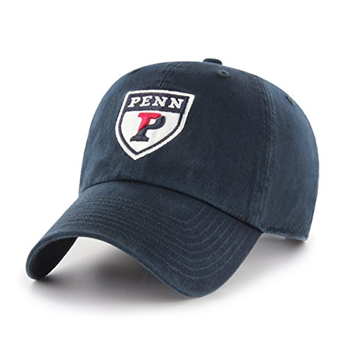 OTS NCAA Pennsylvania Quakers Challenger Clean Up Adjustable Hat, Navy, One Size