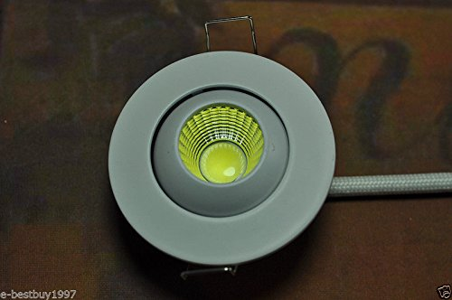 MHY 5pcs 3 W pequeño LED Downlight empotrable Mini ajustable armario COB Spot luces agujero: Amazon.es: Iluminación