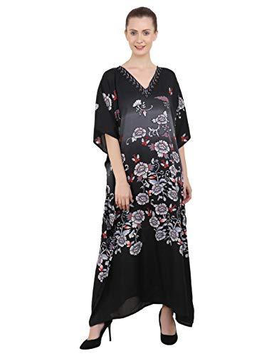 Miss Lavish London Ladies Kaftans Kimono Maxi Style Dresses Suiting Teens to Adult Women in Regular to Plus Size (134-Black, US 20-24) from Miss Lavish London
