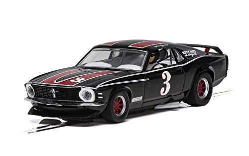 Scalextric Ford Mustang Trans AM 1972 John Gimbel 1:32 Slot Race Car C4014