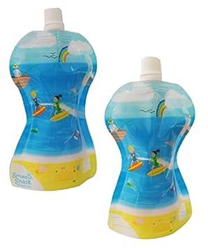 Fill n Squeeze Glatte Snack Tasche/ /10/wiederverwendbar 150/ml Beutel f/ür Fill N Squeeze Pouch F/üllung System Kleinkinder Kinder Schule Smoothie Joghurt Snacks