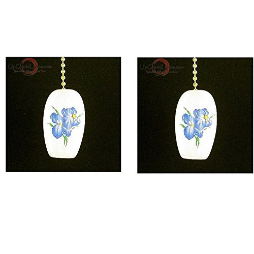 Upgradelights Pair Blue Iris Porcelain C - Porcelain Cylinder Shade Shopping Results