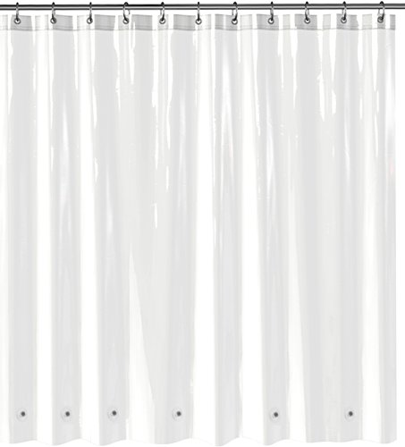 My-Stunning-Abode-PEVA-Shower-Curtain-Liner-with-6-Bottom-Magnets-and-Reinforced-Grommets-Clear
