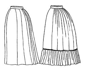 Guide to Victorian Civil War Costumes on a Budget 1870s Underskirt Pattern $17.70 AT vintagedancer.com