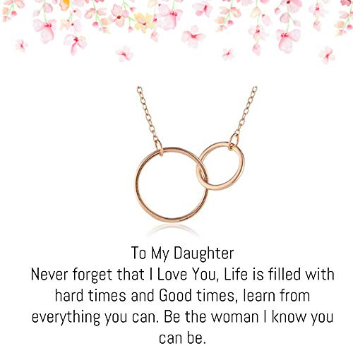 OnePurposeGifts to My Daughter Gifts Daughter Birthday Gifts Sweet 16 Gifts Graduation Gift Gifts for her (Rose Gold)