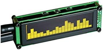 [해외]OLED 음악 오디오 스펙트럼 표시기 바탕 화면 MP3 PC 앰프 속도 조정 가능한 AGC 모드 15 수준 / OLED Music Audio Spectrum Indicator Desktop MP3 PC Amplifier Speed Adjustable AGC Mode 15 Levels