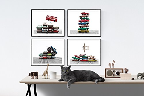 Most Matchbox Cars (Kids Truck and Car Nursery Art Set of 4 unframed photos or canvas, Car and truck themed Wall art for boys, Vintage matchbox cars, multiple sizes available, perfect for your kids room or nursery walls)