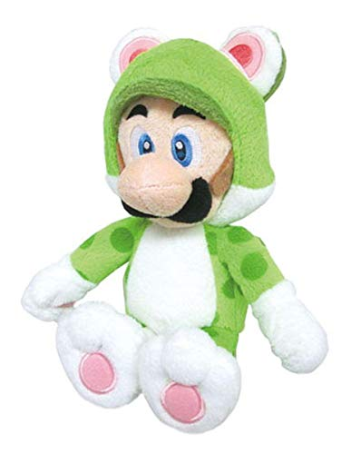 Little Buddy Super Mario Neko Cat Luigi Plush, 10