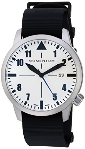 Men's Sports Watch | Fieldwalker Automatic Leather Adventure Watch by Momentum | Stainless Steel Watches for Men | Analog Watch with Automatic Japanese Movement | Water Resistant (200M/660FT) Classic Watch - Lume / 1M-SN92LS11B