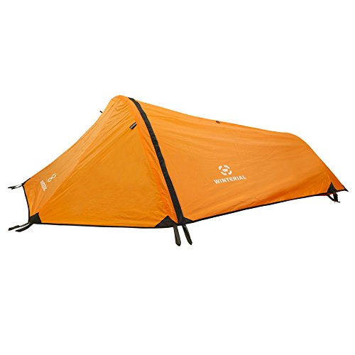 Winterial Single Person Personal Bivy Tent, Lightweight 2 Pounds 9 Ounces, Orange