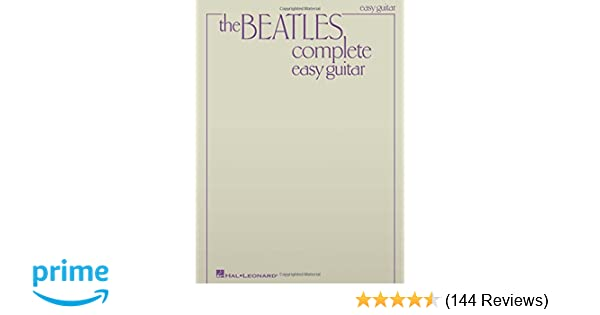 Amazon Beatles Complete Easy Guitar 0073999960822 The