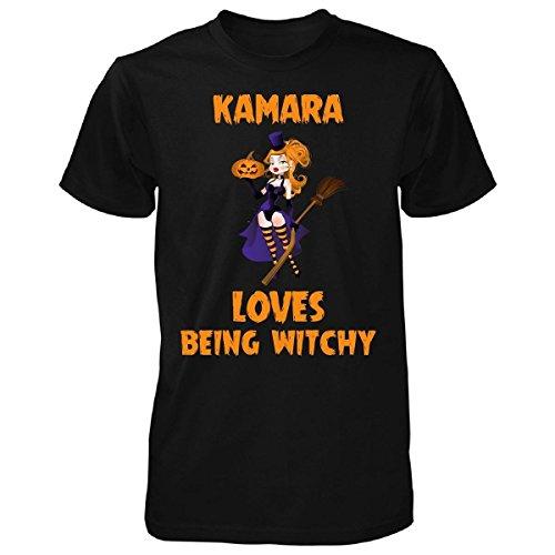 Tarmne Kamara Loves Being Witchy Halloween Gift - Unisex Tshirt