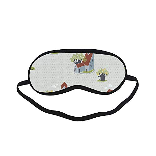(All Polyester Cat Pet Cartoon Pet Creative Hand Drawn Sleeping Eye Masks&Blindfold by Simple Health with Elastic Strap&Headband for Adult Girls Kids and for Home Travel)