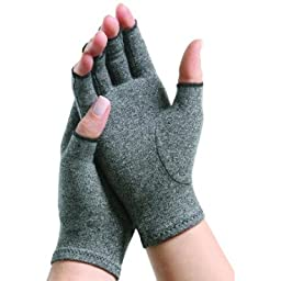 MCK21711300 - Arthritis Glove IMAK Compression Open Finger Medium Over-the-Wrist Hand Specific Pair Cotton / Lycra