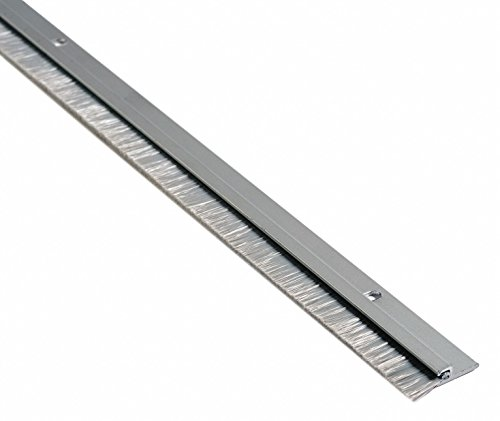 Nylon Brush Door Sweep, Anodized Aluminum, 7 ft. Length, 3/4'' Flange Height, 1/2'' Insert Size by National Guard