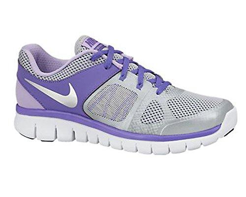 Nike Flex 2014 Run (GS) Laufschuhe wolf grey-metallic silver-purple haze-hydrangeas - 38,5