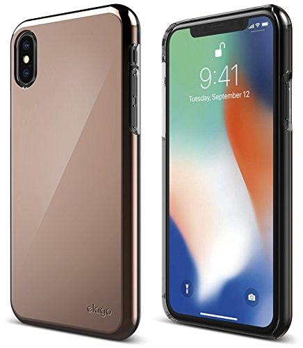 elago Slim Fit 2 Series iPhone Xs, iPhone X Case - Durable Scratch Resistant Coat Minimalistic Designed Protective Cover for Apple iPhone Xs (2018), iPhone X (2017) (Rose Gold)