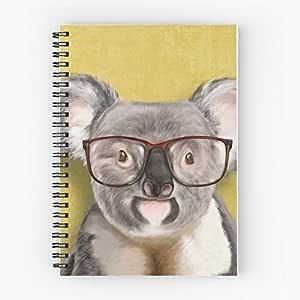 Mr Spiral Koala Cute School Five Star Spiral Notebook With Durable Print