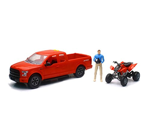 Honda Light and Sound Ford F-150 Pick-Up with TRX-450R ATV and Figurine