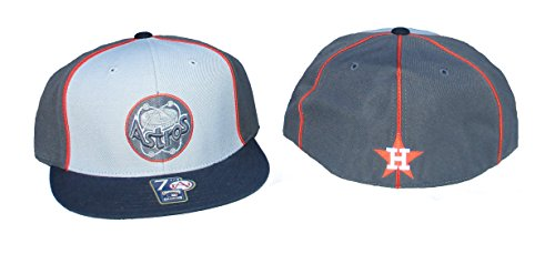 Houston Astros GREY SCALE Fitted Hat Cap Size 8 - Grey