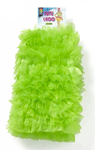 Candy Raver Costume (Forum Novelties Women's Club Candy Novelty Tutu Leg Warmers, Green, One Size)