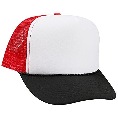 Wholesale Trucker Caps (Wholesale Trucker Hats (12 Hats) - Blk/Wht/Red)
