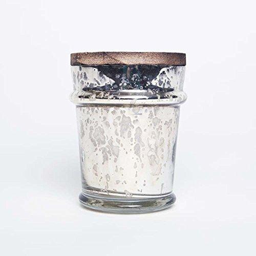 Capri Blue 8 ounce Mercury Found Glass with Lid Pomegranate Citrus No 39 by Capri Blue