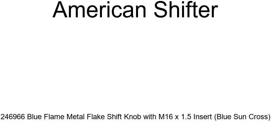 American Shifter 246167 Blue Flame Metal Flake Shift Knob with M16 x 1.5 Insert Pink US Air Force Star