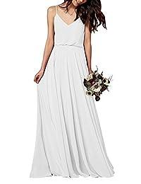 CladiyaDress Women Strap A Line Bridesmaid Dress Evening Gown C097LF