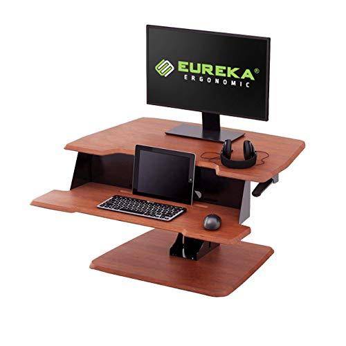 Eureka Ergonomic Height-Adjustable Standing Desk Sit-Stand Desk Top, Standing Desk Converter, No Assembly Required, 31-1/2-Inch-Wide, - Series Stand Erk